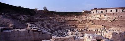 Πανοραμική άποψη του Αρχαίου Θεάτρου στη Λάρισα